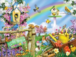Spring Egg Hunt Flowers Jigsaw Puzzle