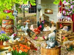 Barnyard Families Chickens & Roosters Jigsaw Puzzle