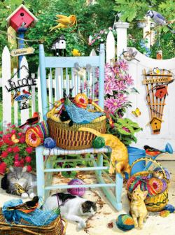 The Knitting Chair Garden Jigsaw Puzzle