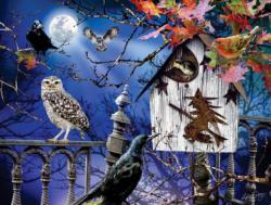 Halloween Birdhouse Halloween Jigsaw Puzzle