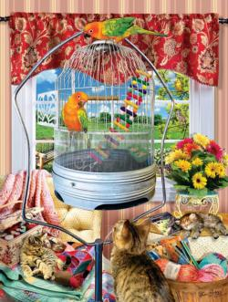 Bird Cage Birds Jigsaw Puzzle