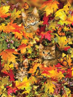 Kitties at Play Fall Jigsaw Puzzle