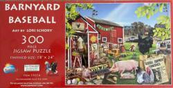 Barnyard Baseball Pig Jigsaw Puzzle