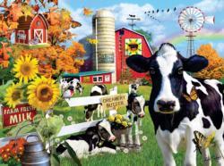Dairy Farm Flowers Jigsaw Puzzle