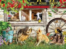Owl and Pussycat Farm Animals Jigsaw Puzzle