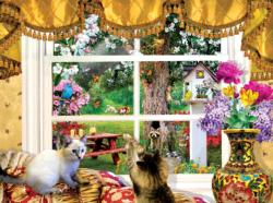 Through a Window Domestic Scene Jigsaw Puzzle