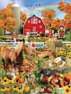 Scarecrow Farm Collage Jigsaw Puzzle