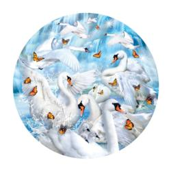 Swan Waterfall Birds Impossible Puzzle