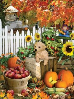 Harvest Puppy Fall Jigsaw Puzzle