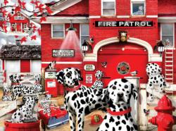 Dalmatian Station Dogs Large Piece