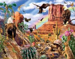 Desert Eagles Landscape Jigsaw Puzzle
