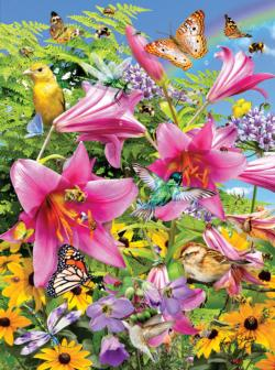 The Pollinators - Scratch and Dent Flowers Jigsaw Puzzle