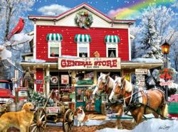 Old General Store Winter General Store Jigsaw Puzzle