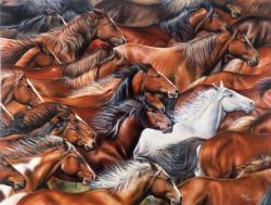 Horse of a Different Color Horses Jigsaw Puzzle