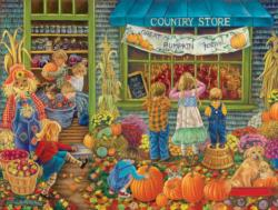 Great Pumpkin Festival Shopping Jigsaw Puzzle