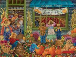 Pumpkin Festival Shopping Large Piece
