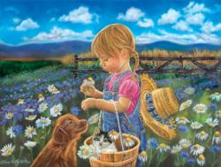 Country Girl Family Fun Jigsaw Puzzle