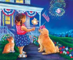 Fourth Friends Fourth of July Jigsaw Puzzle