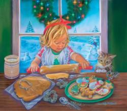 Christmas Cookies Domestic Scene Large Piece