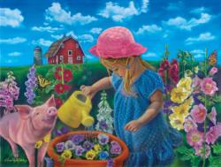 Watch Them Grow Pig Jigsaw Puzzle