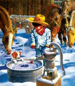 Ice Fishing Fishing Jigsaw Puzzle