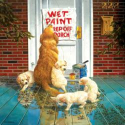 Wet Paint Dogs Jigsaw Puzzle