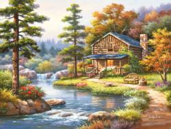 Mountain Creek Cabin Cottage / Cabin Jigsaw Puzzle
