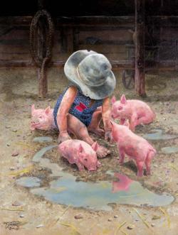 Mud Babies Farm Animals Jigsaw Puzzle