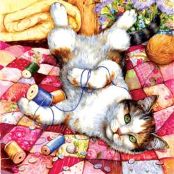 Upside Down Cats Jigsaw Puzzle