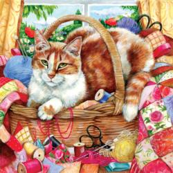 A Perfect Spot Cats Jigsaw Puzzle