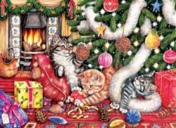 Cats and Baubles Christmas Jigsaw Puzzle