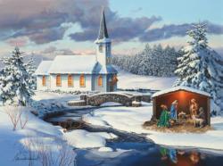 Church Nativity Christmas Jigsaw Puzzle