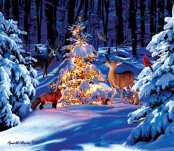 Woodland Glow Christmas Jigsaw Puzzle