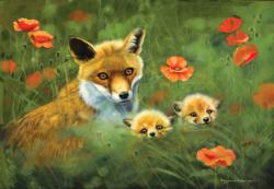 Fox Cubs Nature Jigsaw Puzzle