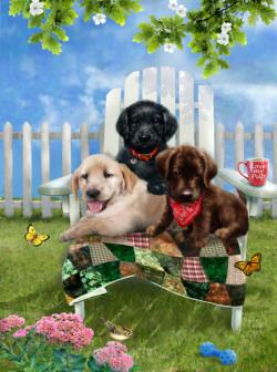 Lounging Dogs Jigsaw Puzzle