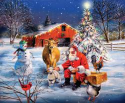 A Stop at the Farm Christmas Jigsaw Puzzle