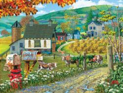 Farm Lane Farm Jigsaw Puzzle