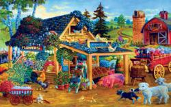 Fresh Fruits and Flowers Food and Drink Jigsaw Puzzle