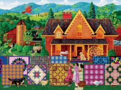 Morning Day Quilt Americana & Folk Art Jigsaw Puzzle