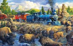 Delaying the Iron Horse Trains Jigsaw Puzzle