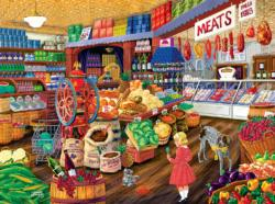 The Corner Grocery Nostalgic / Retro Jigsaw Puzzle