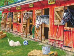 The Boys Team Horses Jigsaw Puzzle