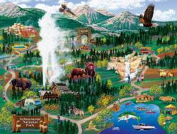 Yellowstone Adventures - Scratch and Dent National Parks Jigsaw Puzzle