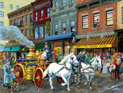 Fire Company No. 1 Main Street / Small Town Jigsaw Puzzle