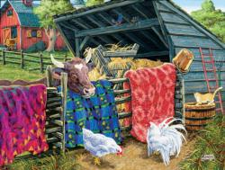 Quilt Cow Farm Animals Jigsaw Puzzle