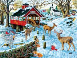 End of Day Crossing Winter Jigsaw Puzzle