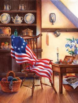 Betsy's Flag - Scratch and Dent Everyday Objects Jigsaw Puzzle
