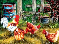 Out with the Boss Chickens & Roosters Jigsaw Puzzle