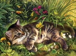 Garden Kitten Play Cats Jigsaw Puzzle