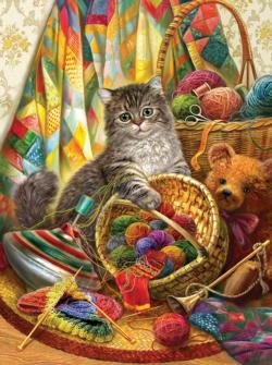 Kitten and Wool Cats Jigsaw Puzzle